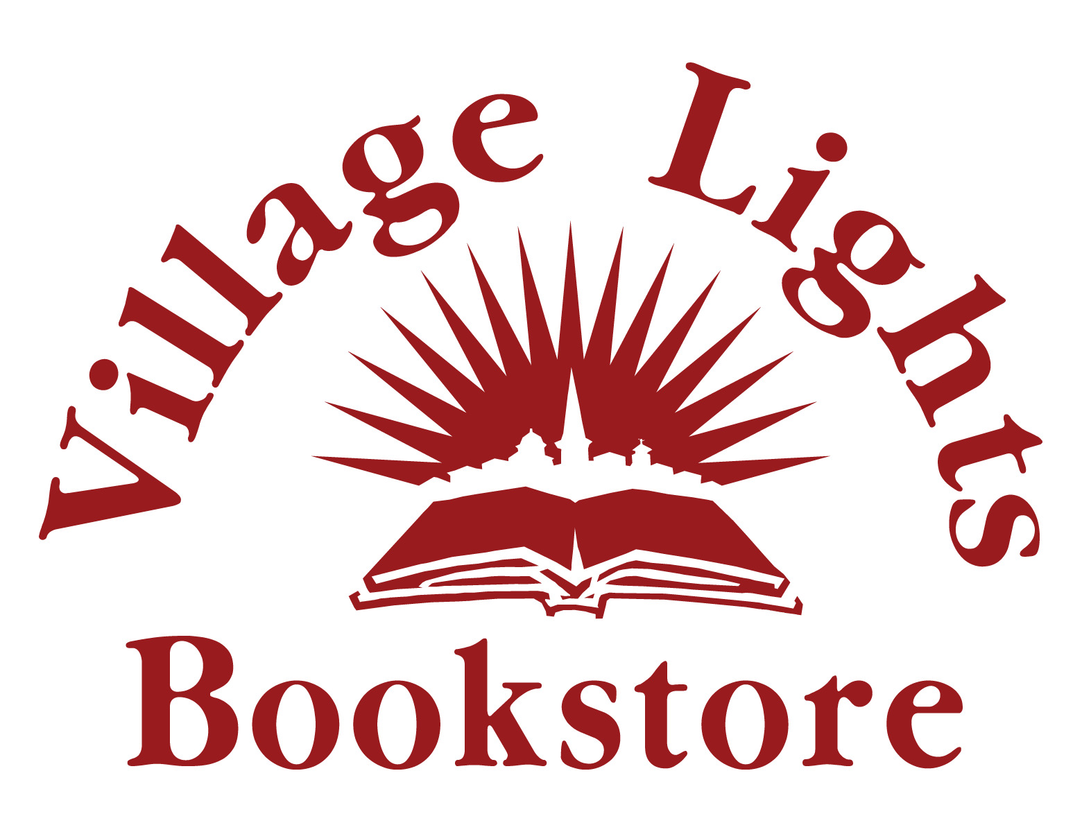 Village Lights Bookstore red logo