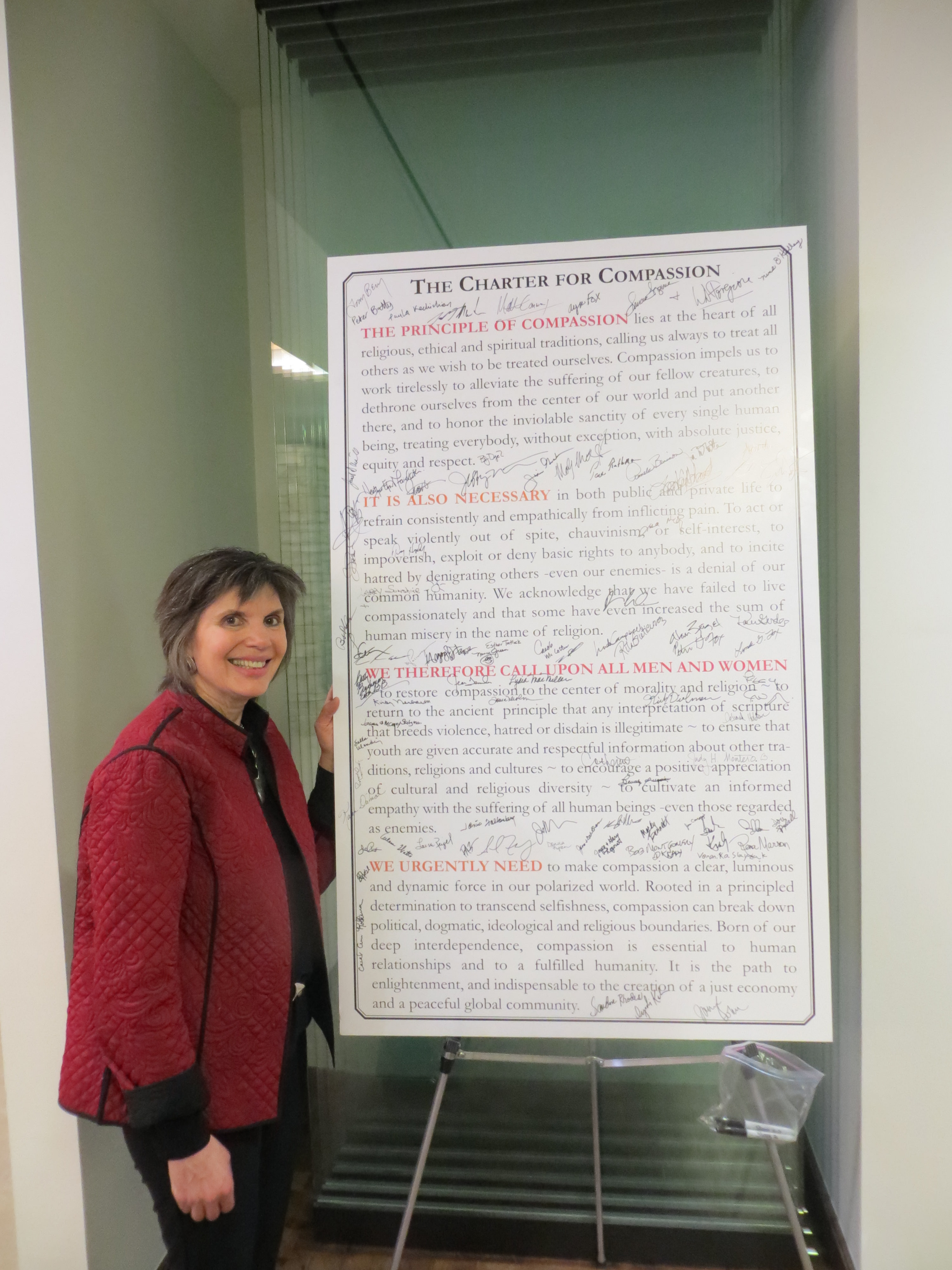 Ayn with the charter